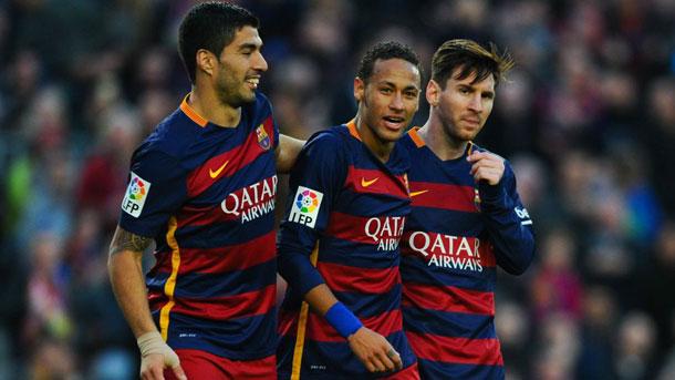 Messi, Neymar y Luis Suárez viven un idilio con el gol