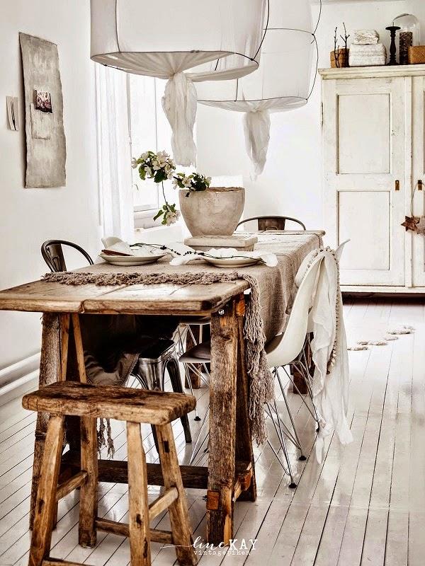 comedor escandinavo boho y rustico