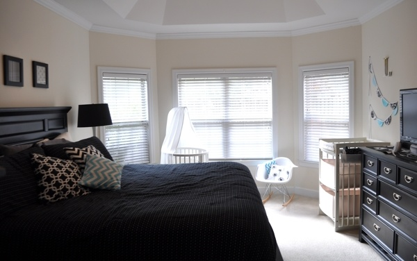 Because it 39 s saturday calm before the storm for Master bedroom with crib ideas