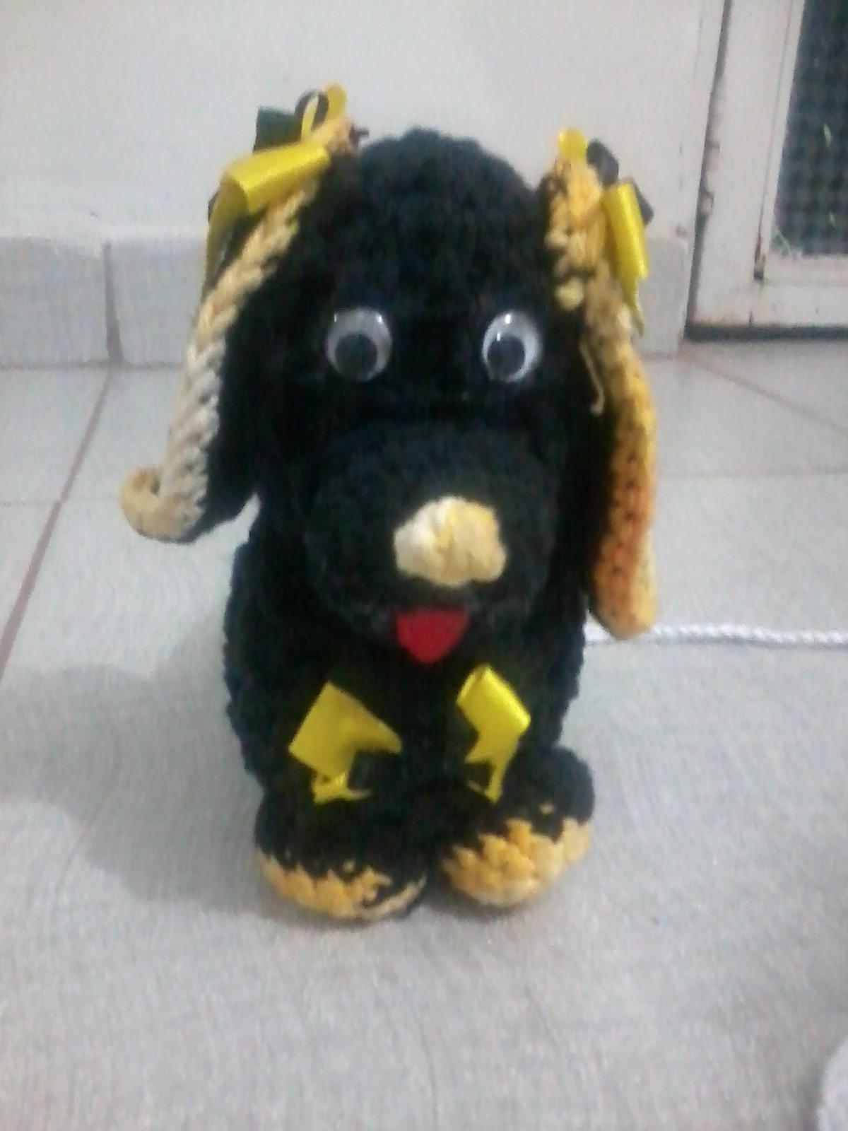 Tapetes de Croche da Mamae: Cachorro de Croche #997E32 1200 1600