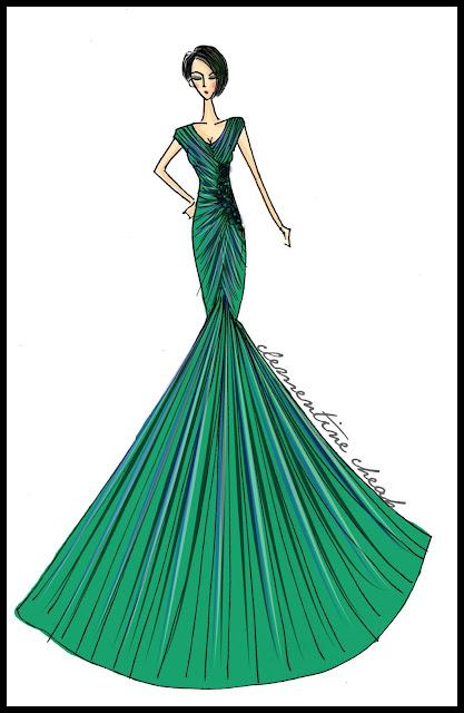 Fashion Design Drawing Dress