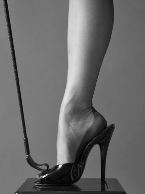 Fetish Inspirations : Black Shoes And Riding Crop