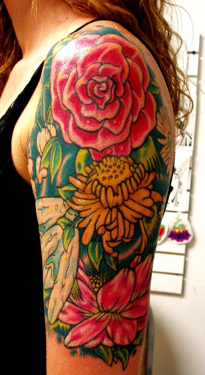 Single Rose Tattoo Designs For Men Flower