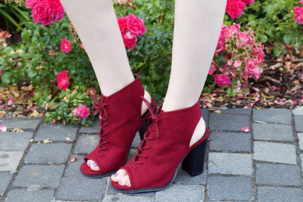 Primark Burgundy block heels