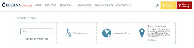 Cebuana Lhuillier Pawnshop Website