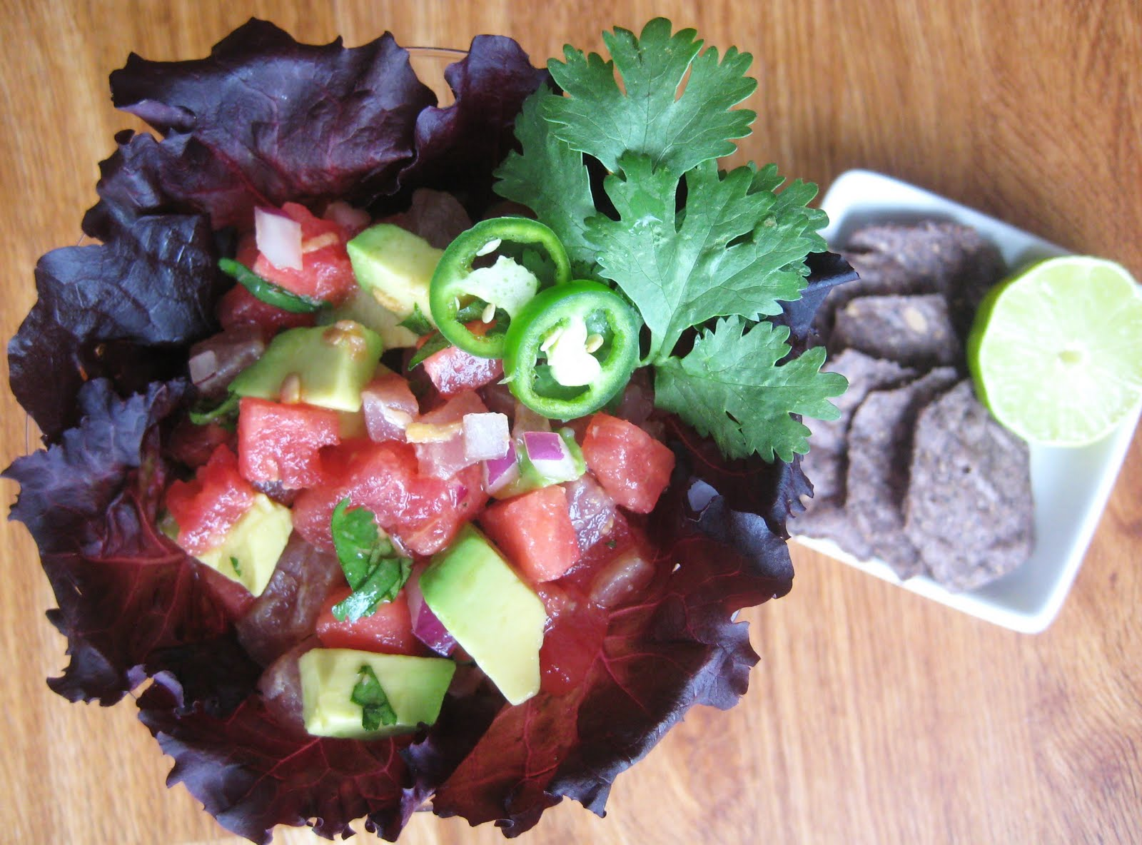 My Fare Foodie.: Ahi Tuna and Watermelon Ceviche