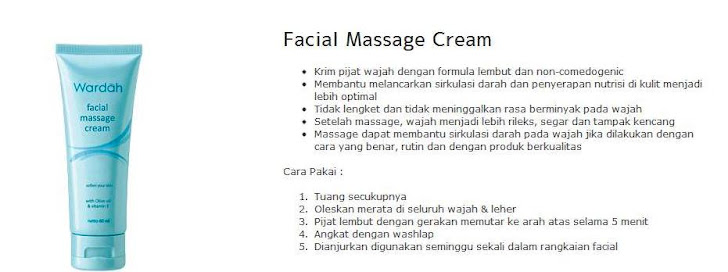 Facial Massage Cream - $7