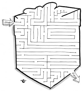 Christmas present maze, activity for children