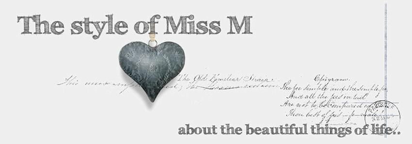 The style of Miss M