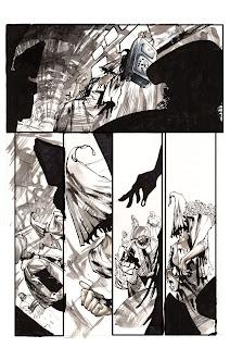 2 páginas da edição #4 de Drones, arte de Bruno Oliveira  2 pages from issue #4 of Drones, art by Bruno Oliveira