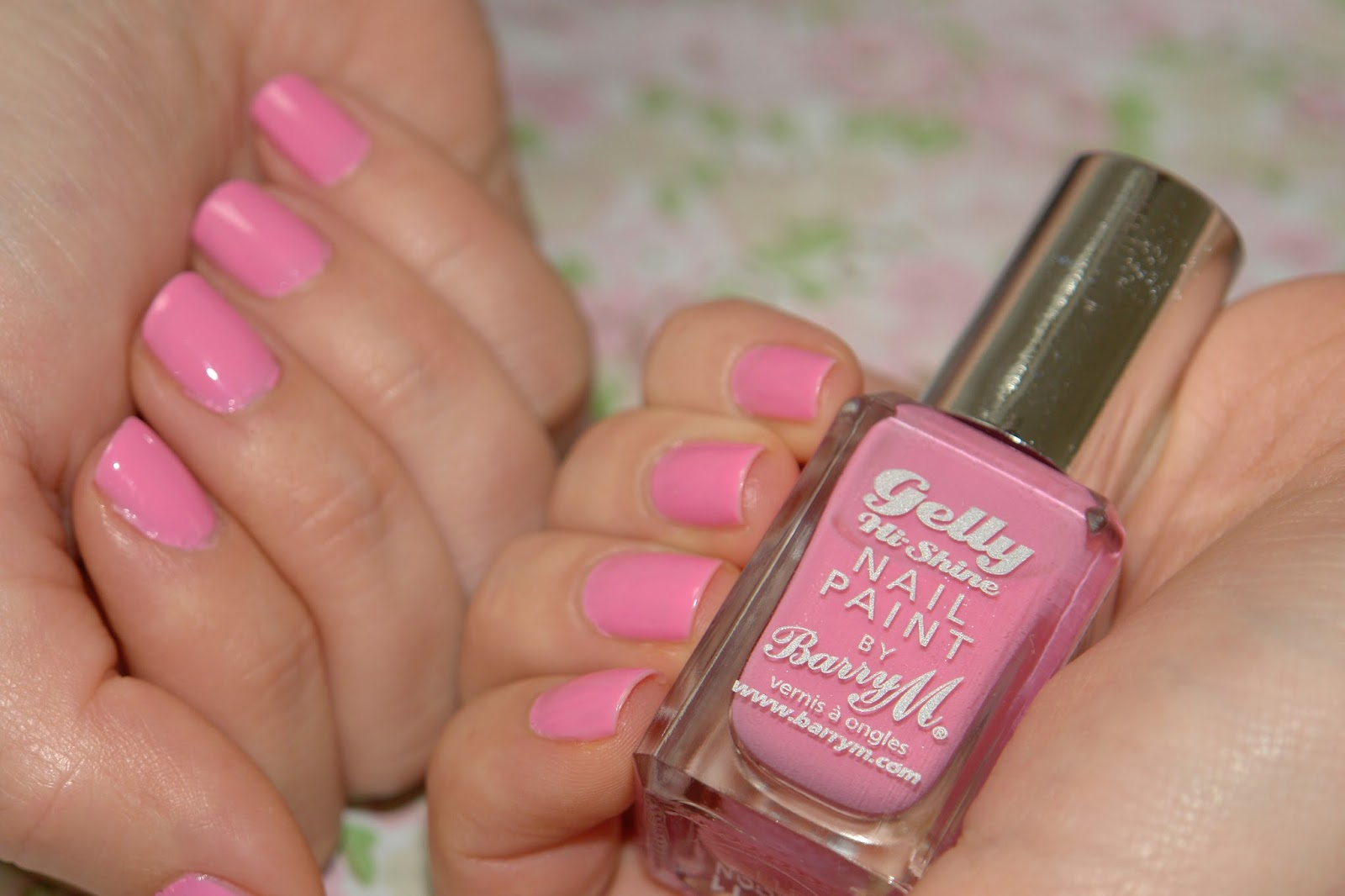 NAILS: Barry M Dragon Fruit, Barry M Gelly Nail Effects in Dragon Fruit, review, swatches, Barry M, nail polish, nails, NOTD, pink, beauty blog, UK top blogger
