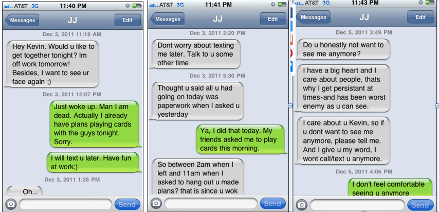 Dating text messages