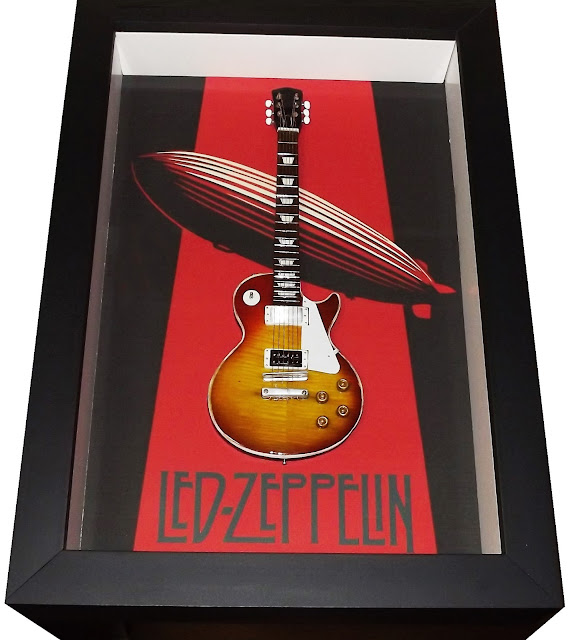 mini guitarra jimmy page led zeppelin