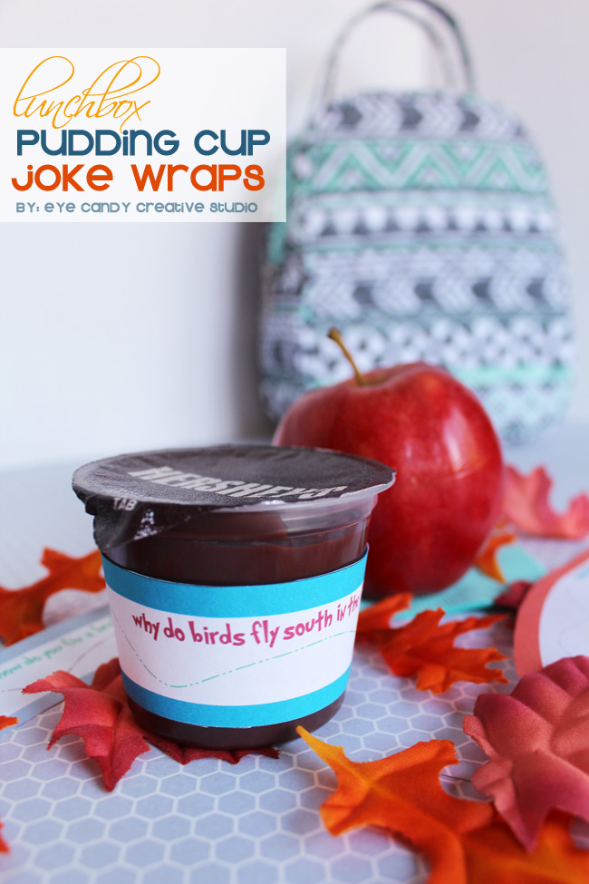 lunchbox pudding cup joke wraps, lunchbox love, hershey's pudding