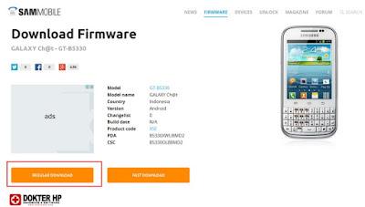 Firmware Samsung Galaxy Chat B5330 XSE