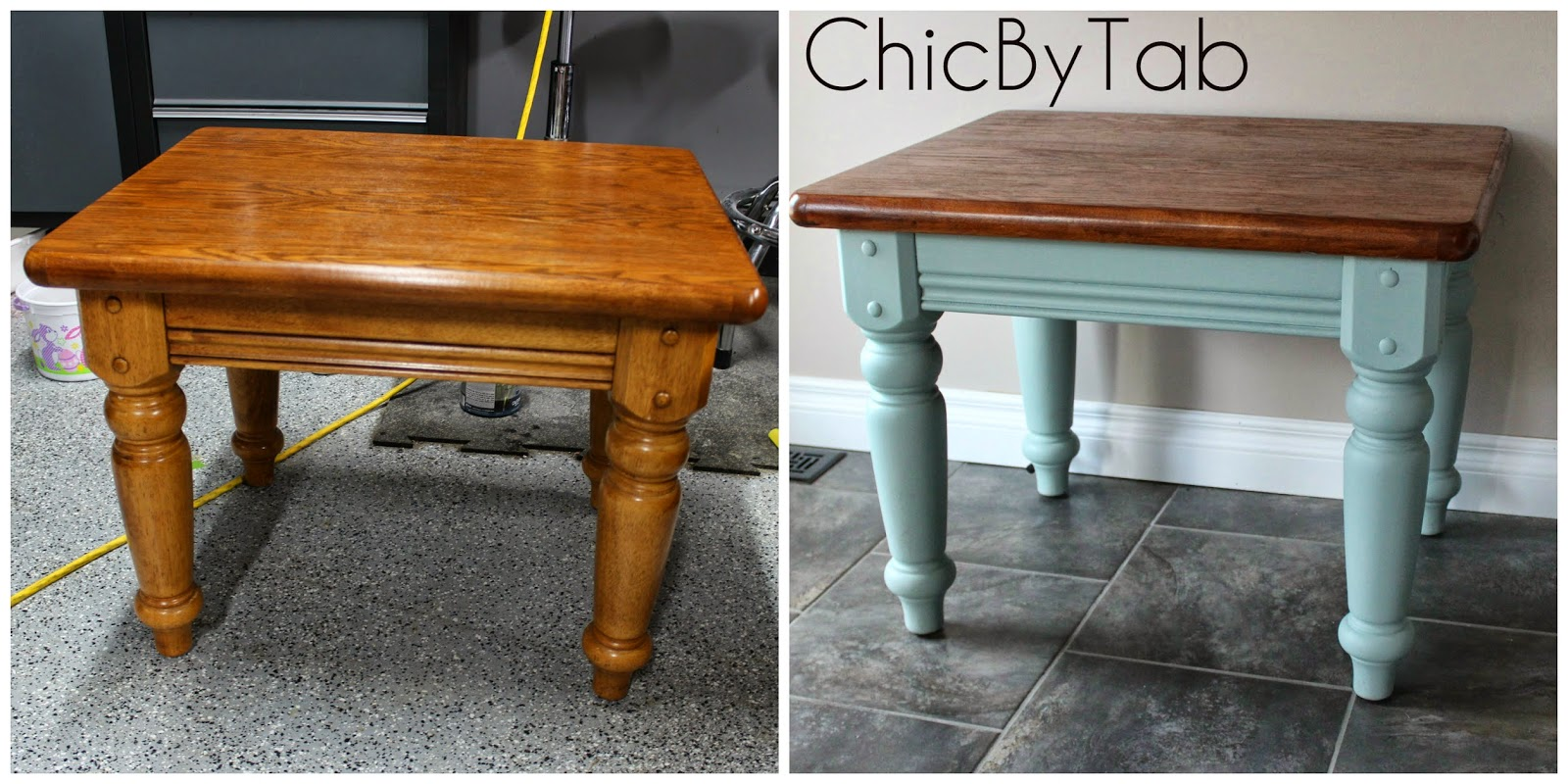 Chicbytab april 2014 coffee table make over 2 geotapseo Images