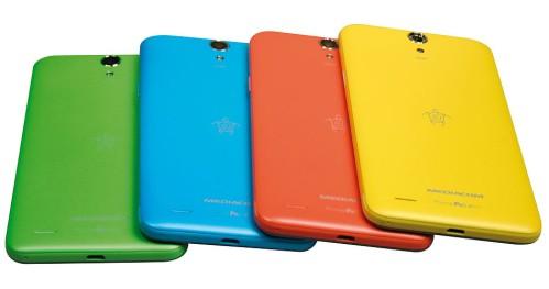 4 colori vivaci per lo smartphone dual sim Android Kitkat di Mediacom