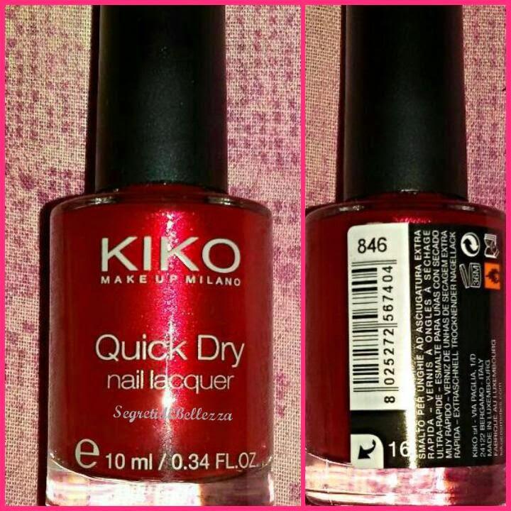 smalto kiko quick dry 846