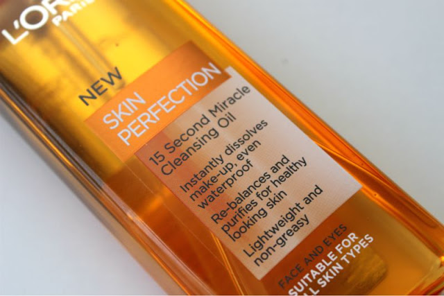 L'Oreal Skin Perfection 15 Second Miracle Cleansing Oil