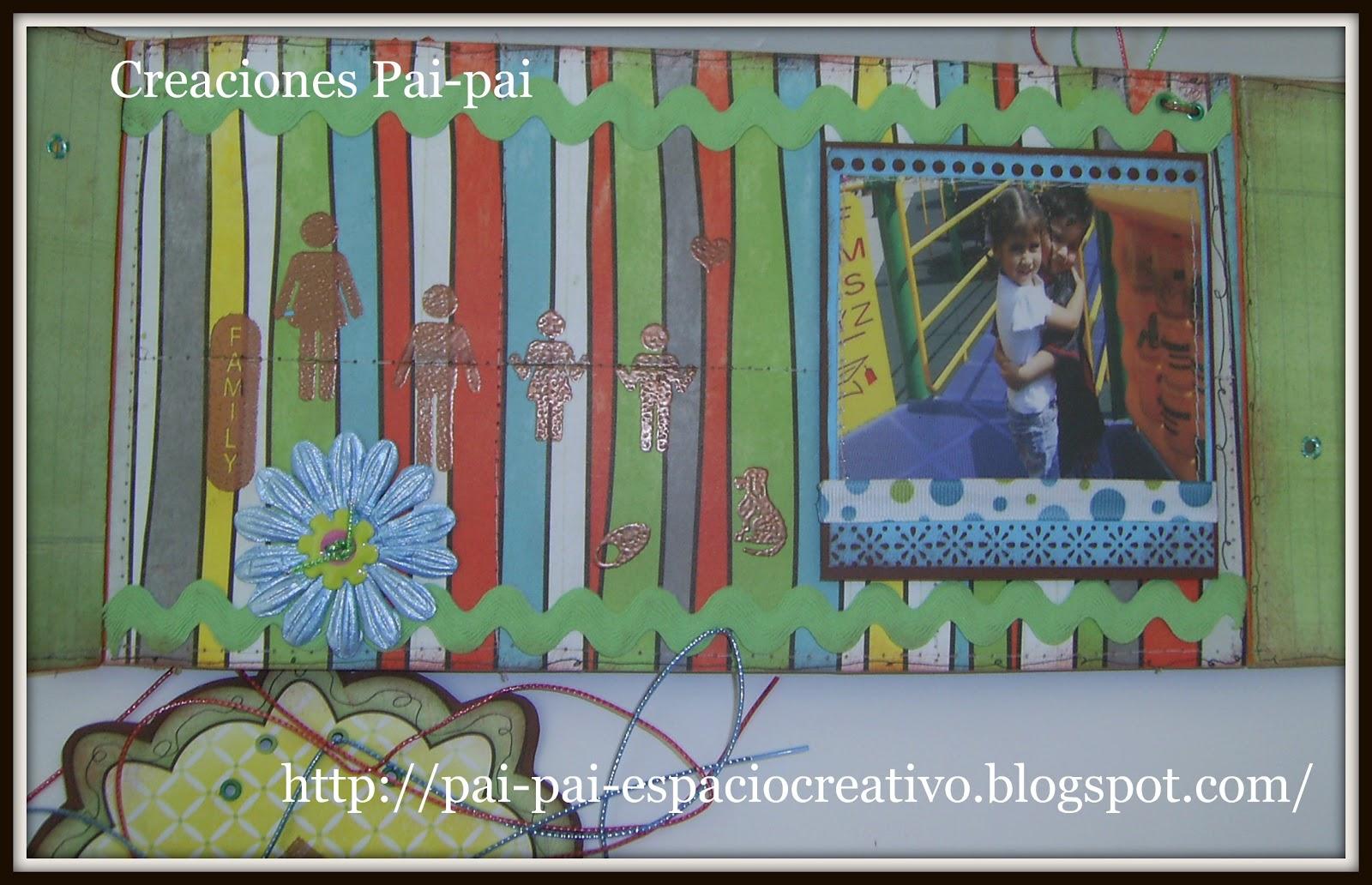 Pai pai imagen creativa scrapbooking mini album for Ondulina verde