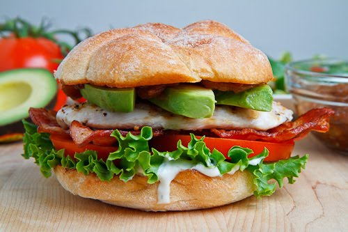 Grilled Chicken Club Sandwich with Avocado and Chipotle Caramelized ...