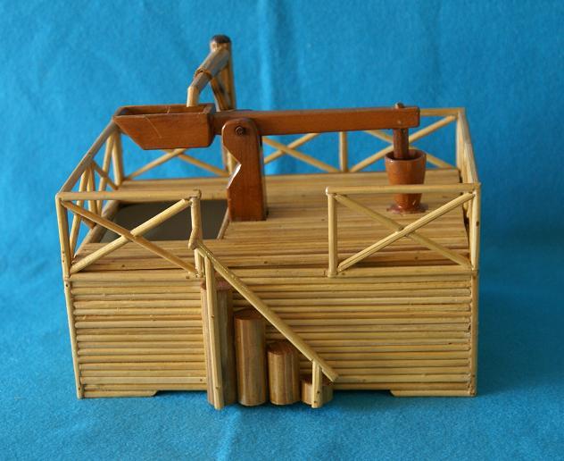 artesanato de bambu para jardim:Artesanato em família: Monjolo