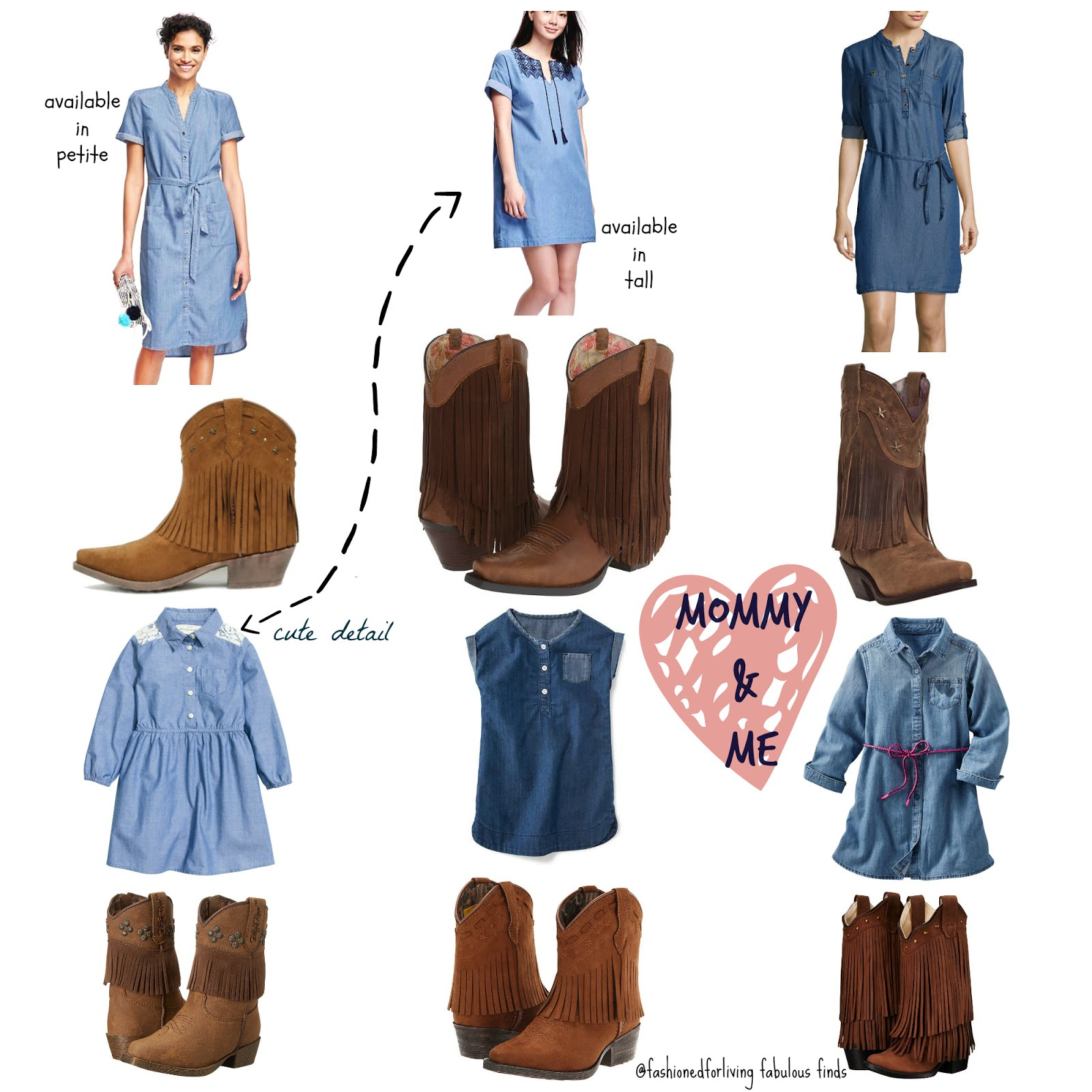 A Denim Dress Paired With Cowboy Boots Is Such Classic Look That Will Be Great For Summer And Transition Perfectly Into