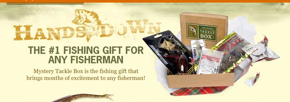 Fishing goodie box of the month clubs for Fishing mystery box