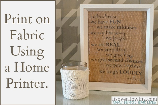 Inspired by pinterest printing on burlap - Decorating ideas using burlap ...