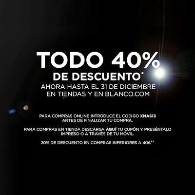 BLANCO 40% DESCUENTO HASTA EL 31 DE DICIEMBRE