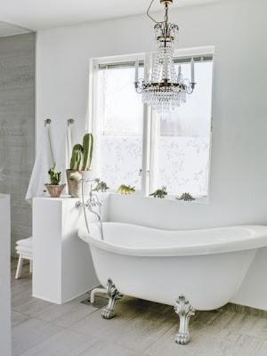 White classic bathroom