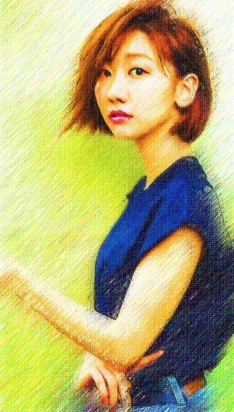 似顔絵_(色鉛筆画)