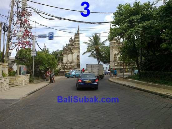 Through the (Jalan) Pantai Kuta Street, Bali
