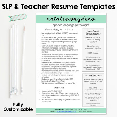 Natalie Snyders, SLP   Blogspot  Speech Pathologist Resume