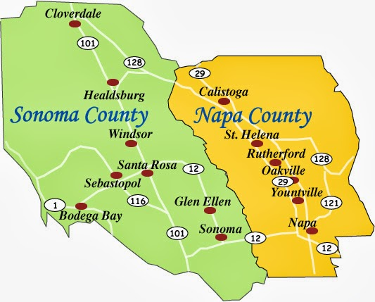 Harrys Wine Blog WINE CLASS Great Wine Regions Napa Sonoma - Us wine regions map