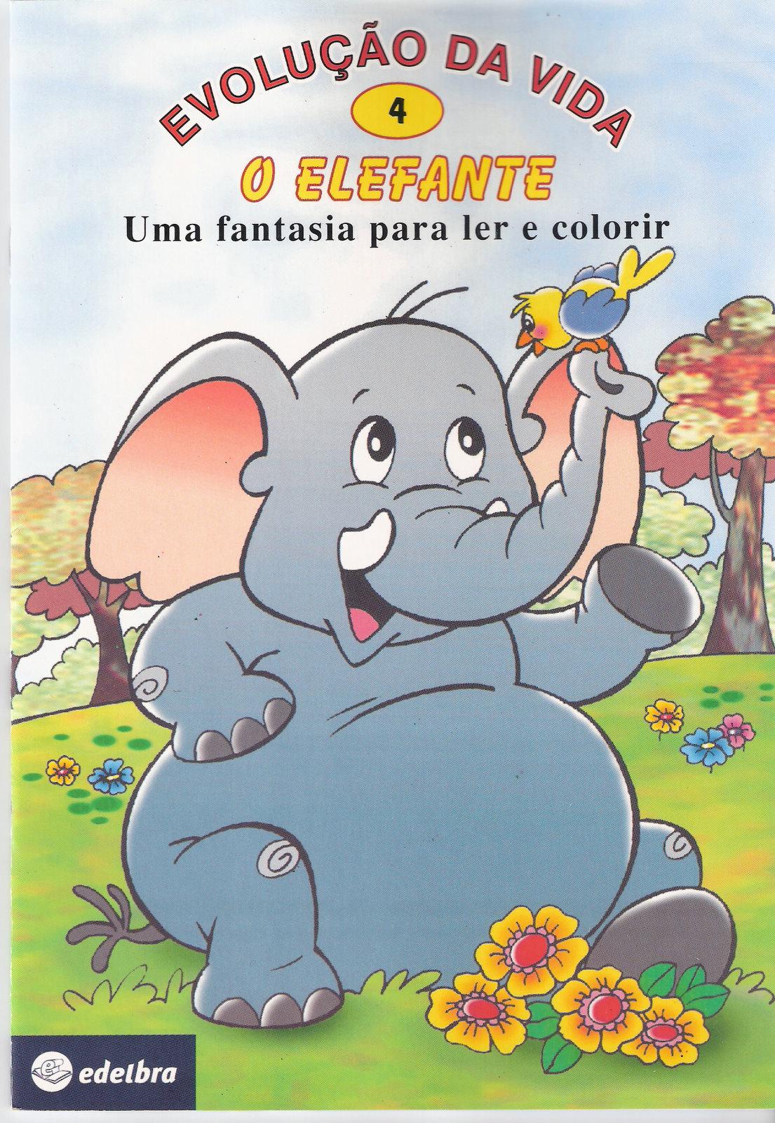 Top ESPAÇO EDUCAR: Livrinho para colorir O Elefante - livrinho  WR81