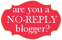 No reply blogger??