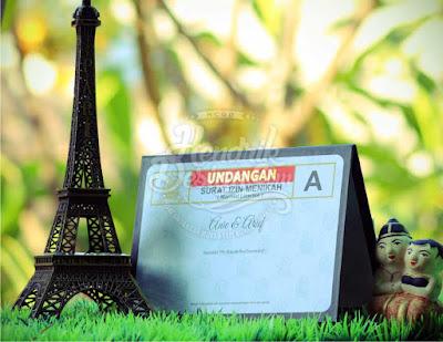Contoh Undangan Pernikahan Hardcover Anie & Arief Bekasi (HCGD-29)