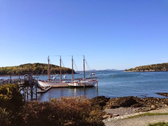 Maine sailing, sailboats in Maine, Bar Harbor Maine, sunset sails on Magaret Todd in Bar Harbor