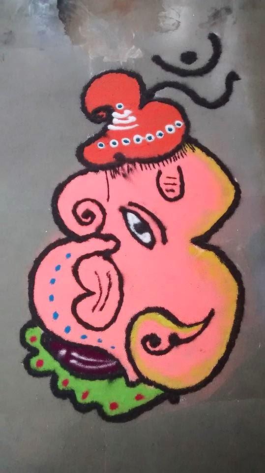 Ganesha Rangoli 28