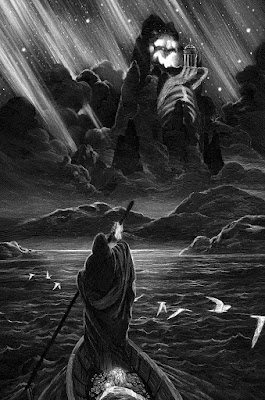 """""""Isle of the Dead"""" Standard Edition Screen Print by Nicolas Delort & Black Dragon Press"""