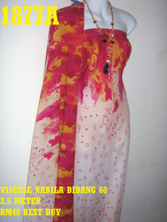 VN 1877A: VISCOSE NABILA BIDANG 60 INCI, 3.5 METER
