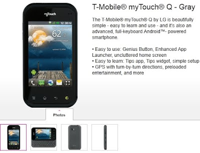 new T-Mobile myTouch And MyTouch Q