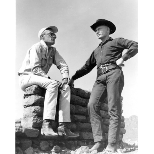 john sturges on set with the director of such classics as