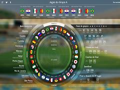 Calendário dos jogos da Copa