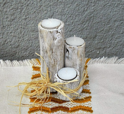 Branch Candle Holder ~ Lovely and so easy to DIY your own Branch Candle Holder #CandleHolder #BranchCrafts