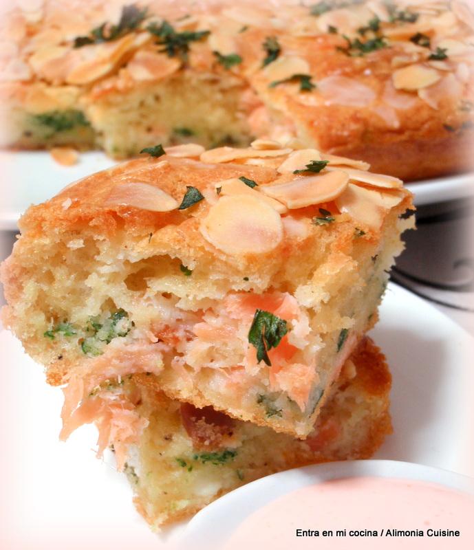 Cake Sal Ef Bf Bd Au Chorizo Chevre Et Poivrons