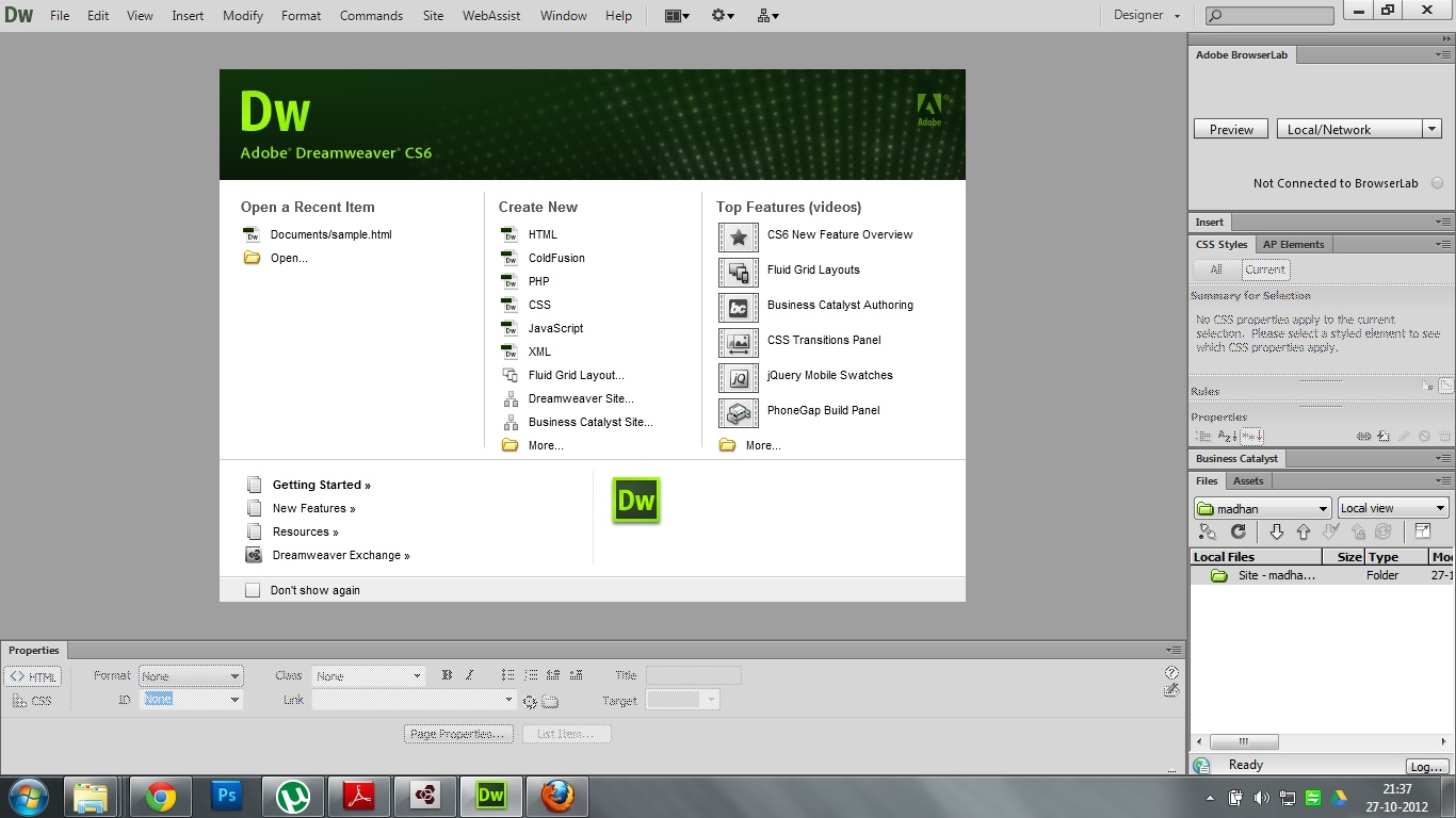 adobe dreamweaver versions