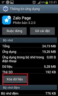 Xóa dữ liệu và bộ nhớ đệm ứng dụng máy điện thoại SamSung