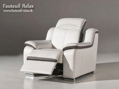 Fauteuil relax lectrique cuir blanc fauteuil relax - Fauteuil relax cuir blanc ...